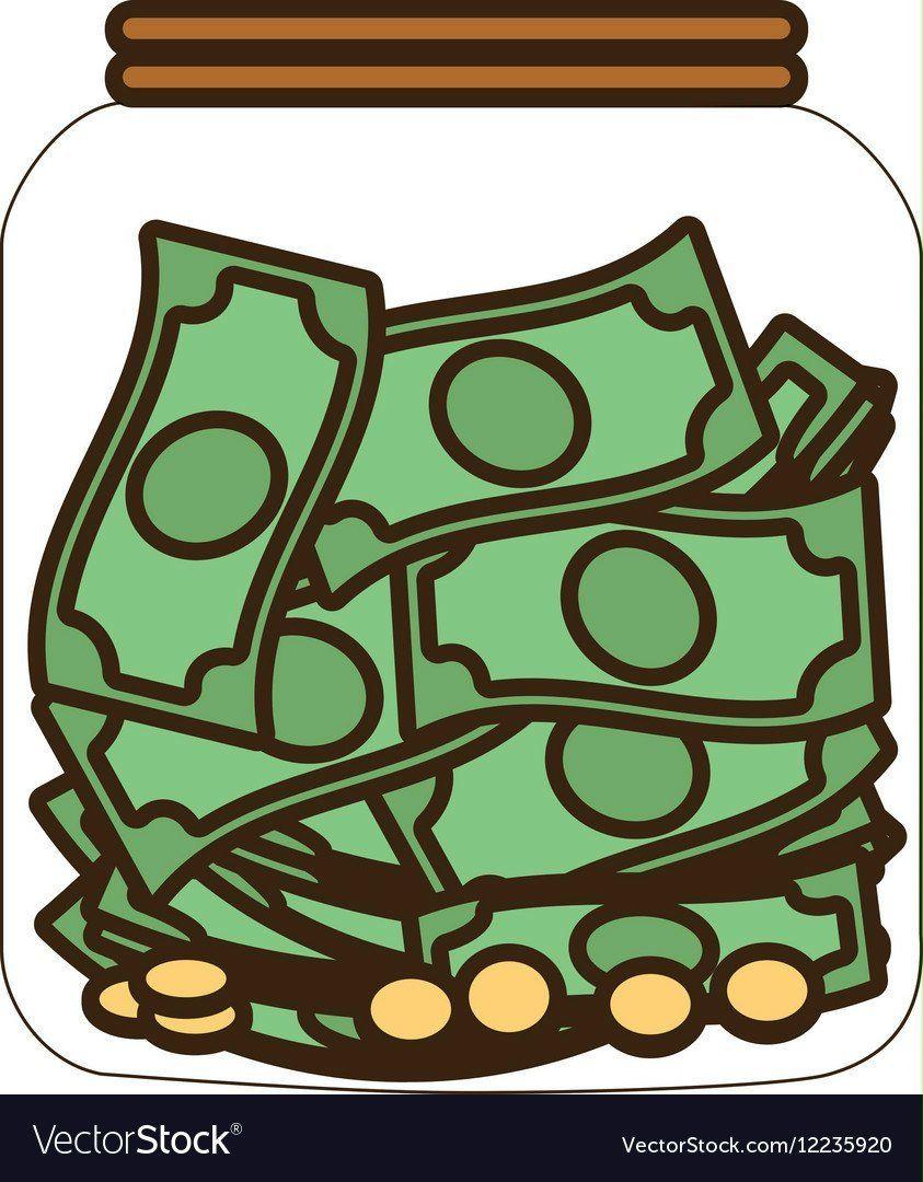 cartoon-money-saving-money-glass-vector-12235920-money