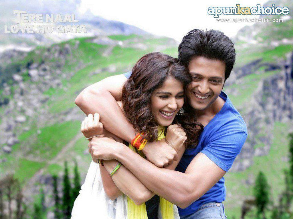 romantic-movie-tere-naal-love-ho-gaya-sweet-couple-genelia-dsouza-ritesh-deshmukh-wallpaper-1024×768-couple